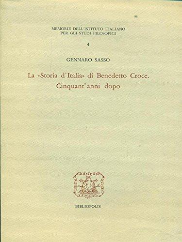 Segnaposto La storia D'Italia di Benedetto Croce. Cinquant'anni dopo