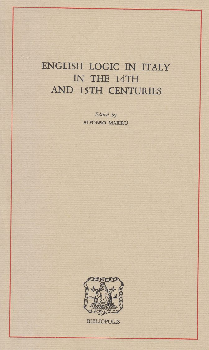 English Logic in Italy in the 14th and 15th centuries