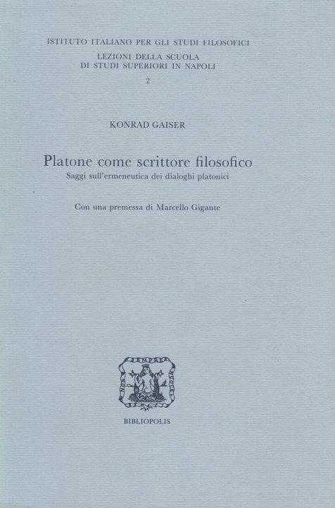 Platone come scrittore filosofico