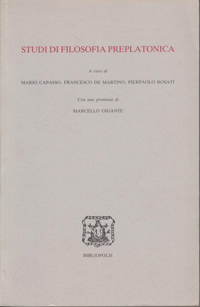 Studi di filosofia preplatonica