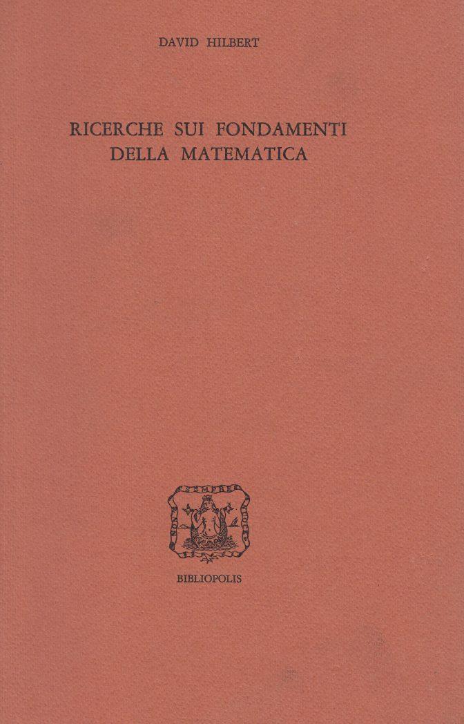 ricerche sui fondamenti della matematica
