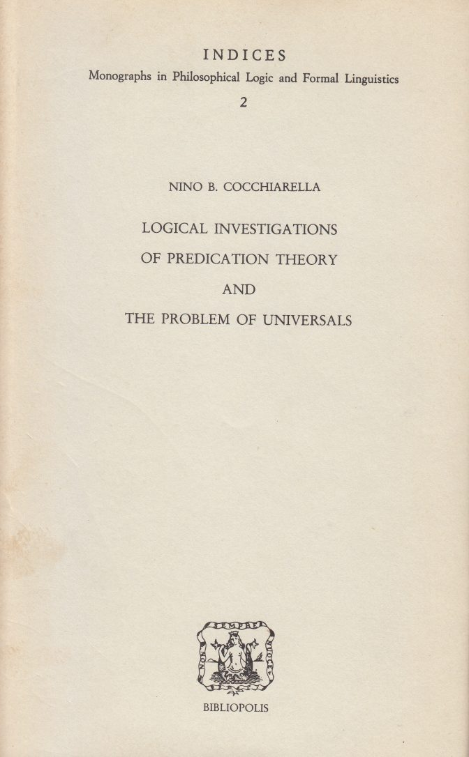 Logical Investigations of Predication Theory