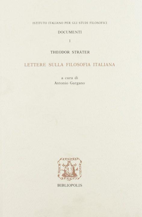 Lettere sulla filosofia italiana