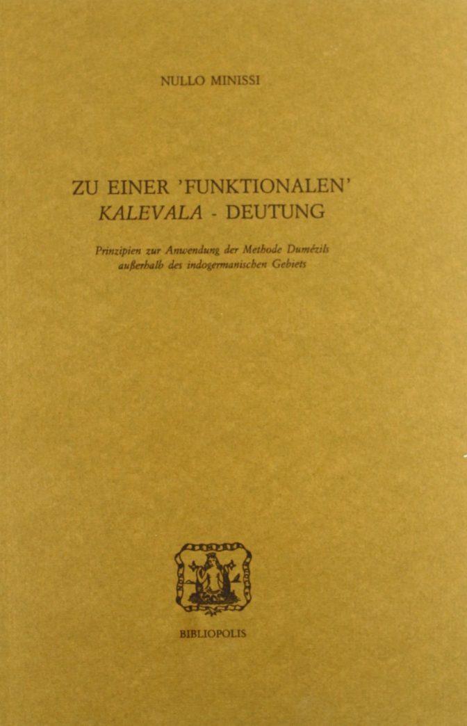 u einer 'funktionalen' Kalevala-Deutung