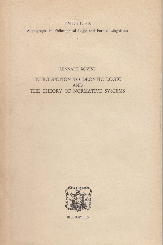 Introduction to deontic logic