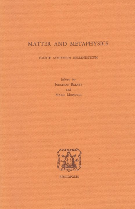 Matter and Metaphysics