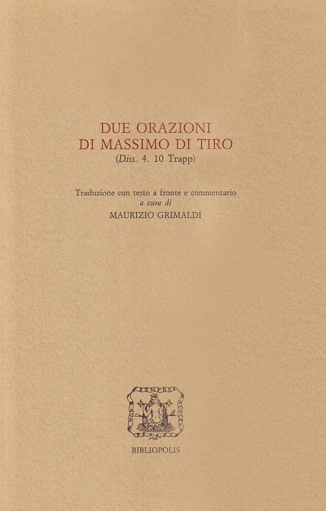 Due orazioni di Massimo di Tiro