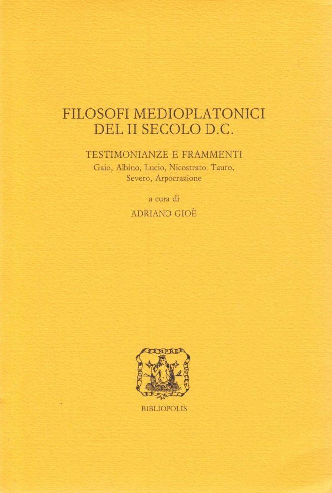 Filosofi medioplatonici del II secolo d.C.