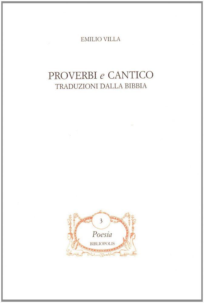 Proverbi e Cantico