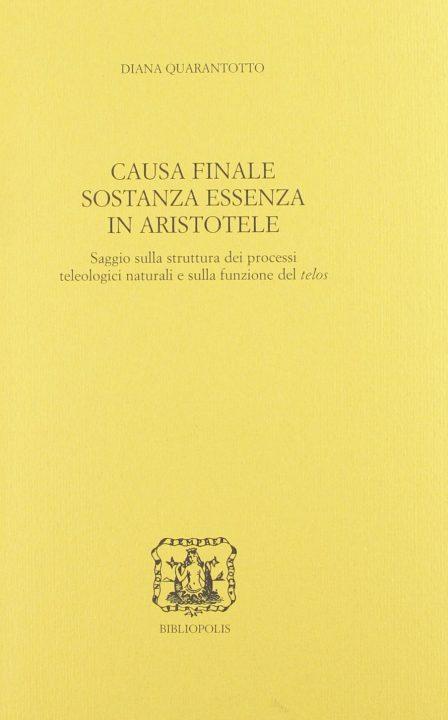 Causa finale sostanza essenza in Aristotele