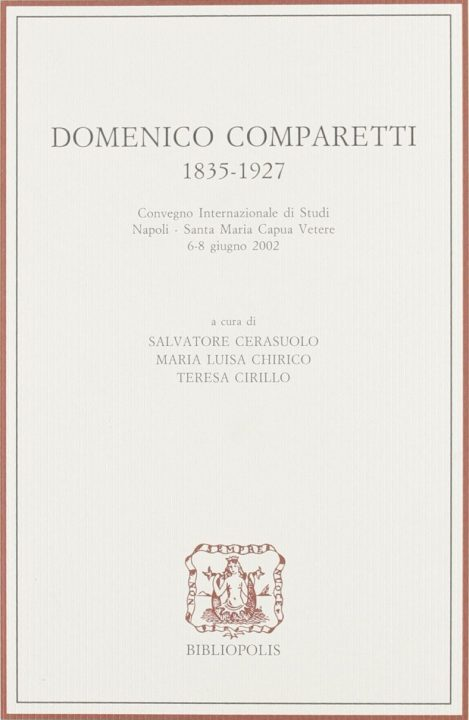 Domenico Comparetti 1835-1927