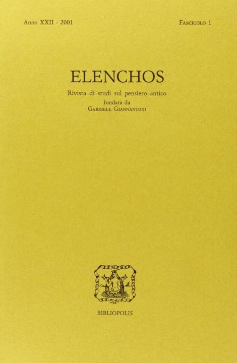 Elenchos XXII – 2001 – Fasc. 1