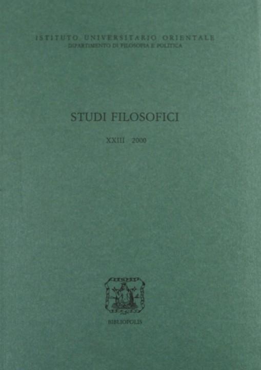 Studi Filos. XXIII