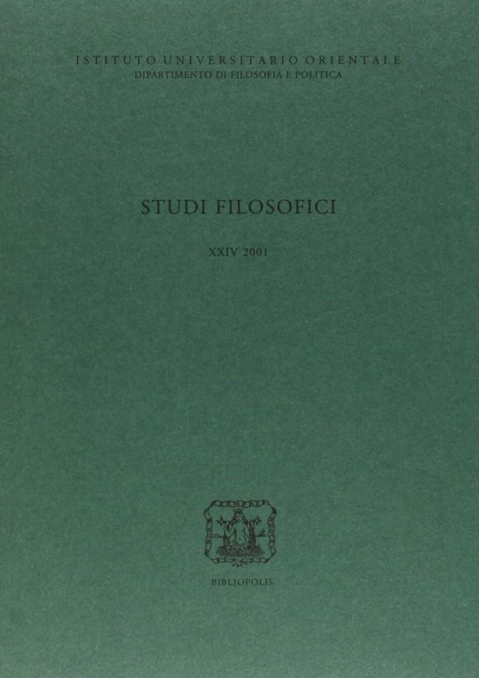 Studi Filos. XXIV
