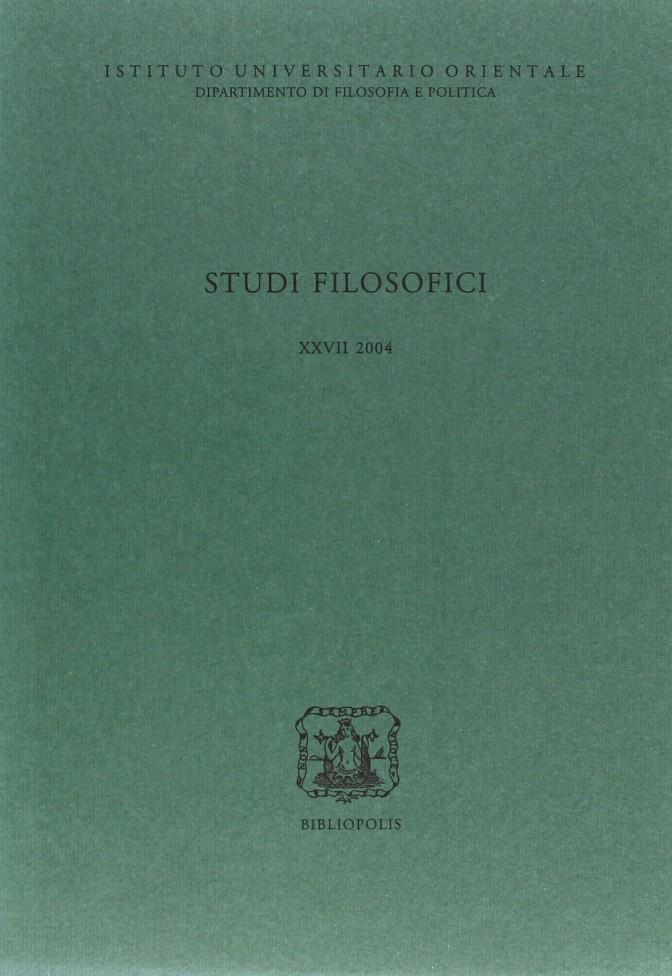 Studi Filos. XXVII