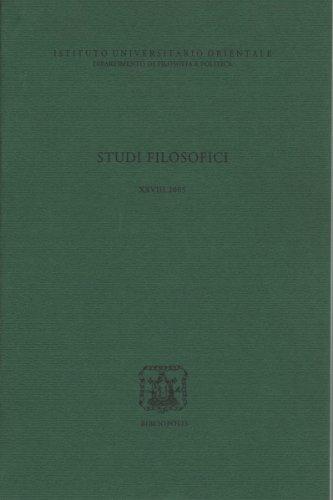 Studi Filos. XXVIII