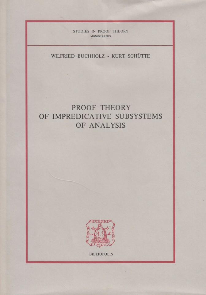 copertina proof theory of impredivative_NEW