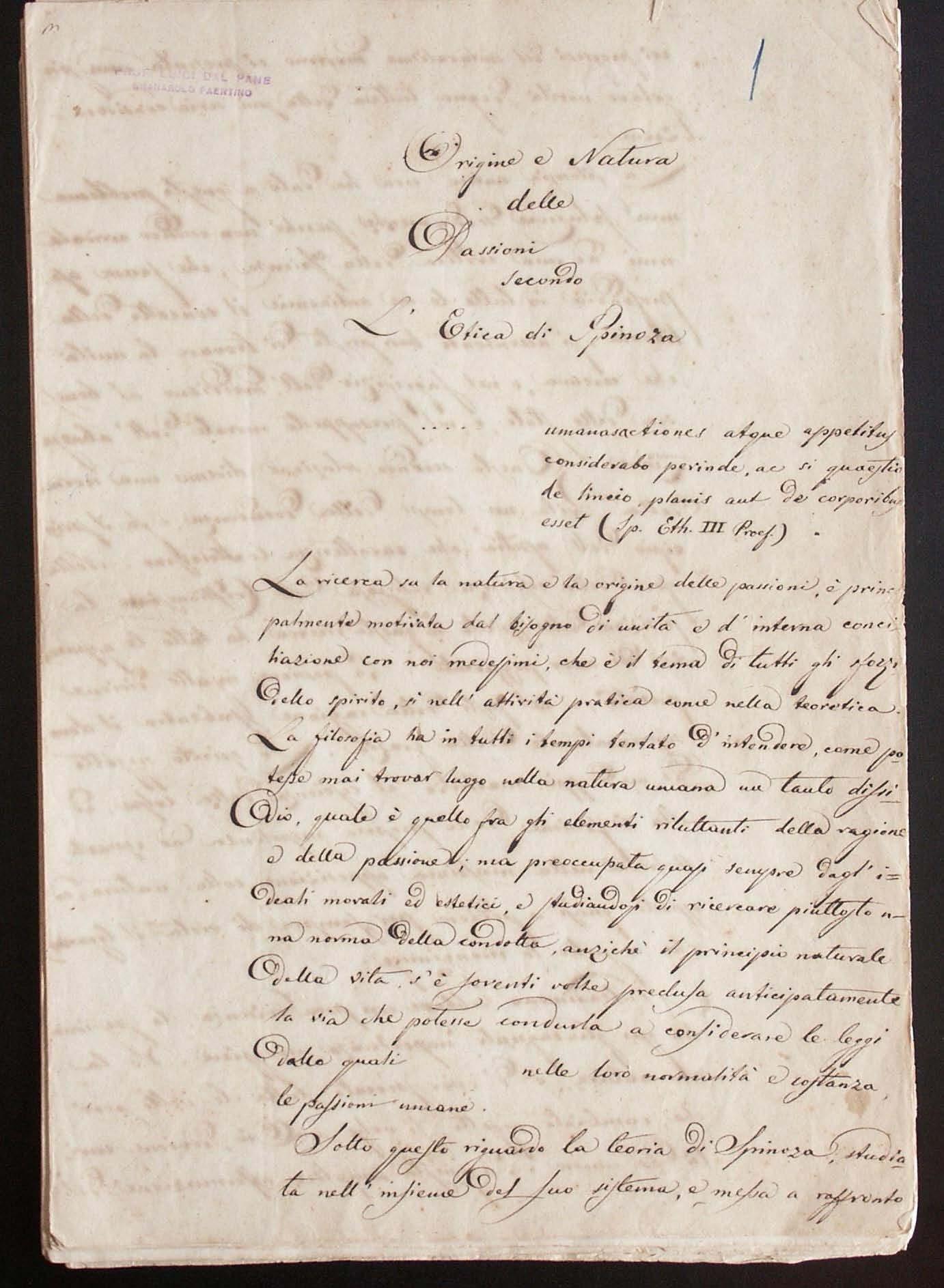 Origine e natura delle passioni secondo l'Etica di Spinoza