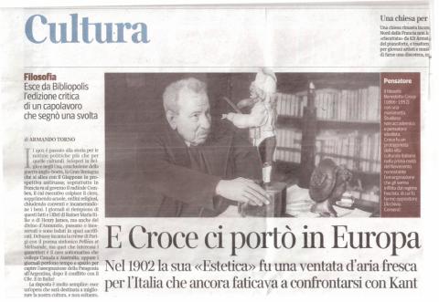 Estetica, recensione di Armando Torno (Corriere della Sera, 17/08/2014)