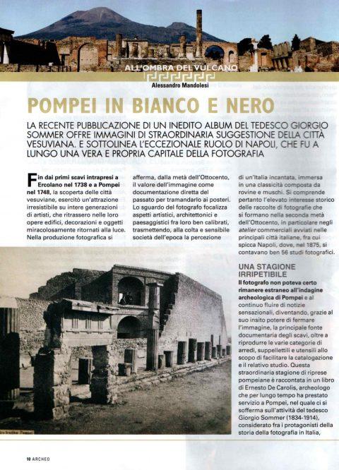 Pompei in bianco e nero (A. Mandolesi, Archeo Gennaio 2020)