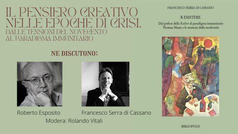 Il pensiero creativo nelle epoche di crisi. Dialogo con Roberto Esposito – 1/06/2021