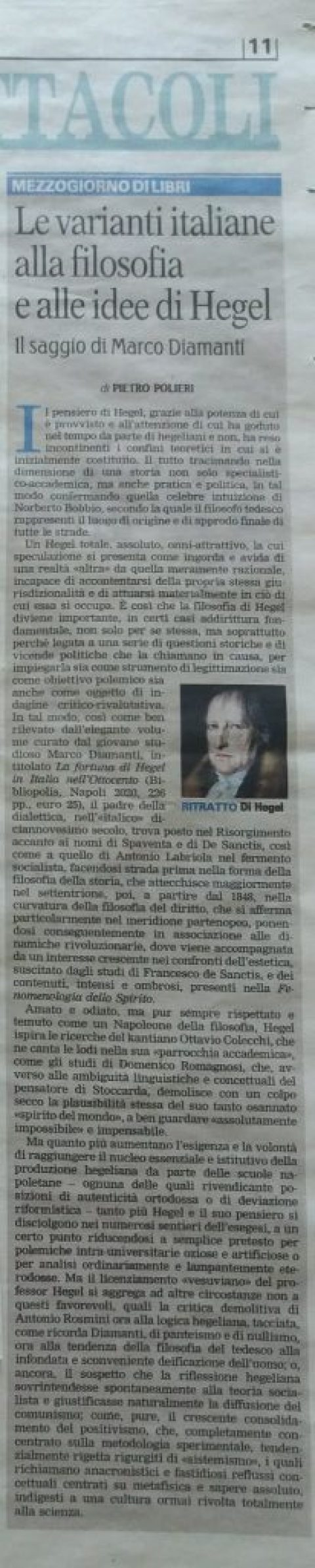 """La Gazzetta del Mezzogiorno Rubrica:  """"Mezzogiorno di Libri"""" 05 luglio 2021"""