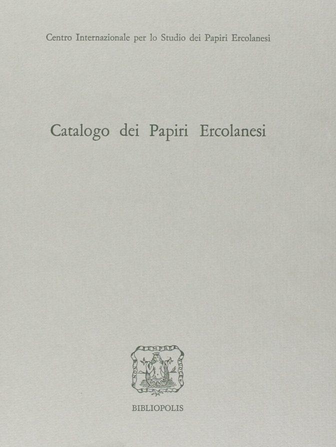 Catalogo dei papiri ercolanesi