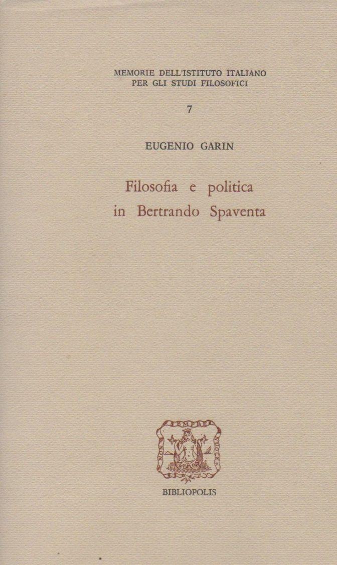 Filosofia e politica in Bertrando Spaventa