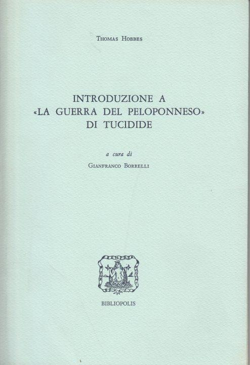 """Introduzione a """"La guerra del Peloponneso"""" di Tucidide"""