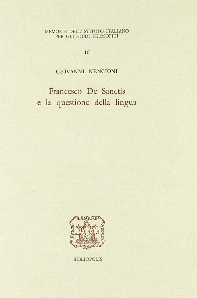 Francesco De Sanctis e la questione della lingua