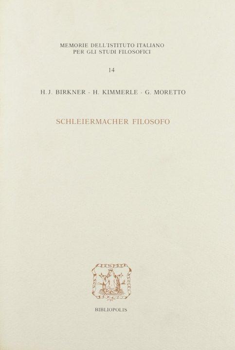 Schleiermacher filosofo