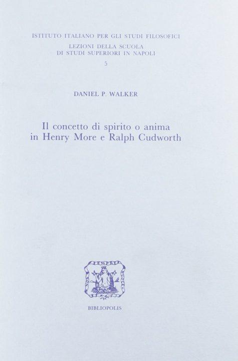 Il concetto di spirito o anima in Henry More e Ralph Cudworth