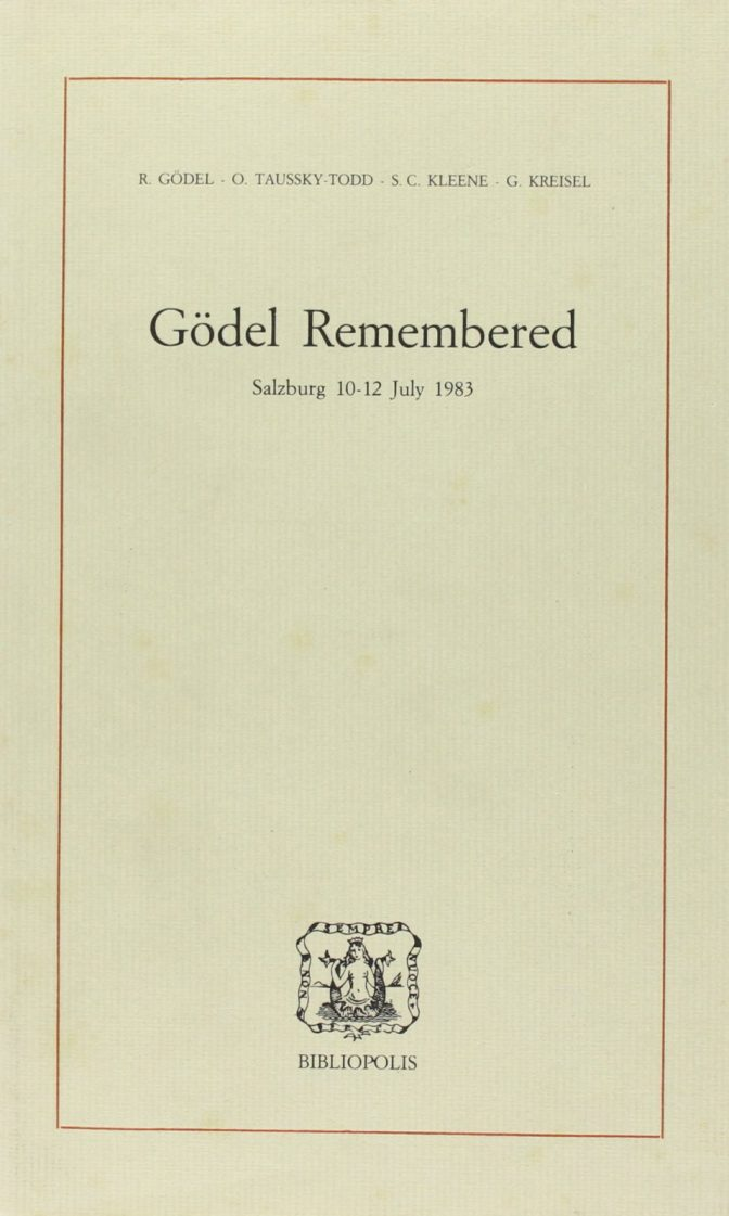 Gödel Remembered