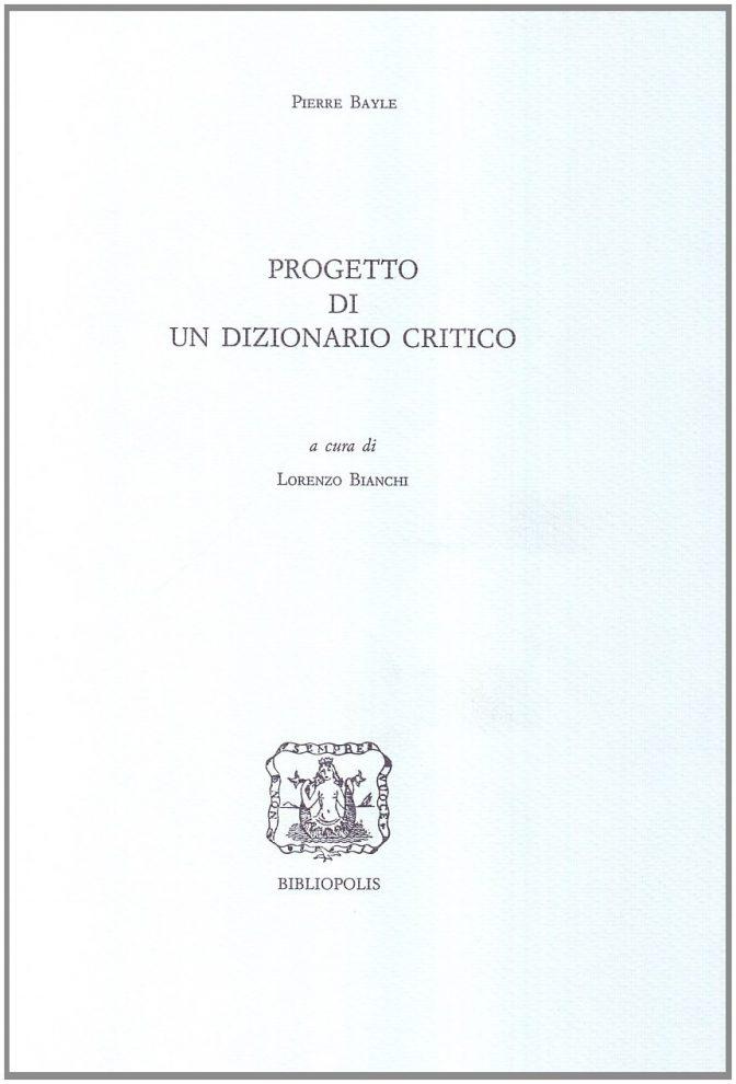 Progetto di un Dizionario critico