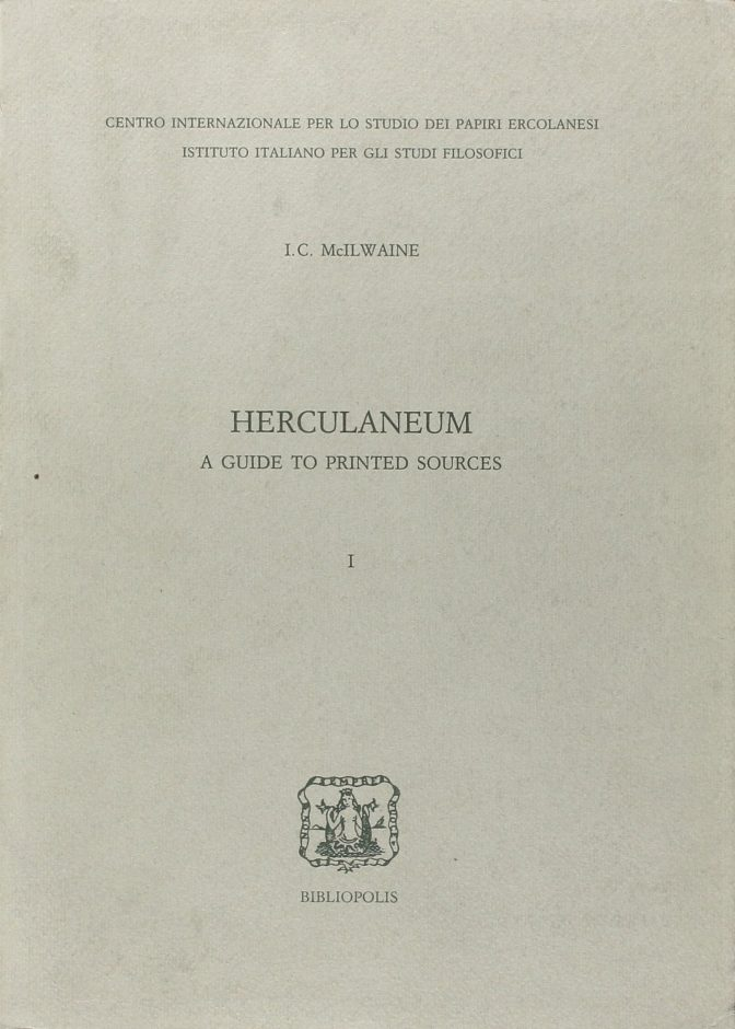 Herculaneum. A guide to printed sources
