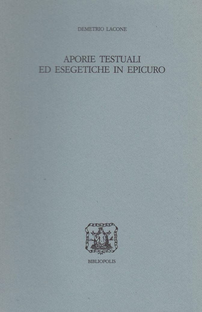 Aporie testuali ed esegetiche in Epicuro