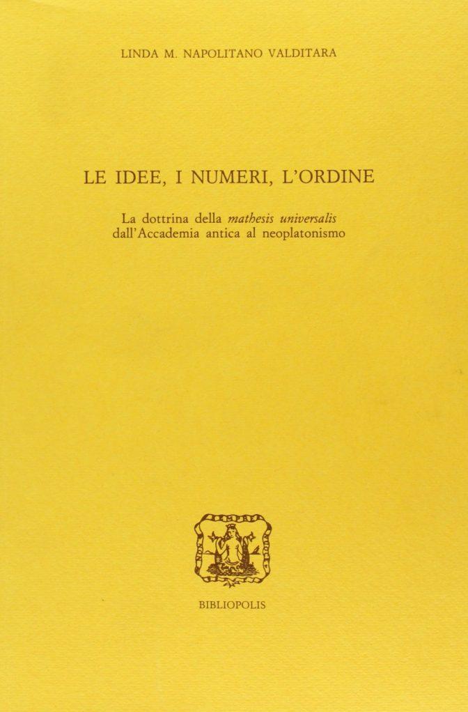Le idee, i numeri, l'ordine