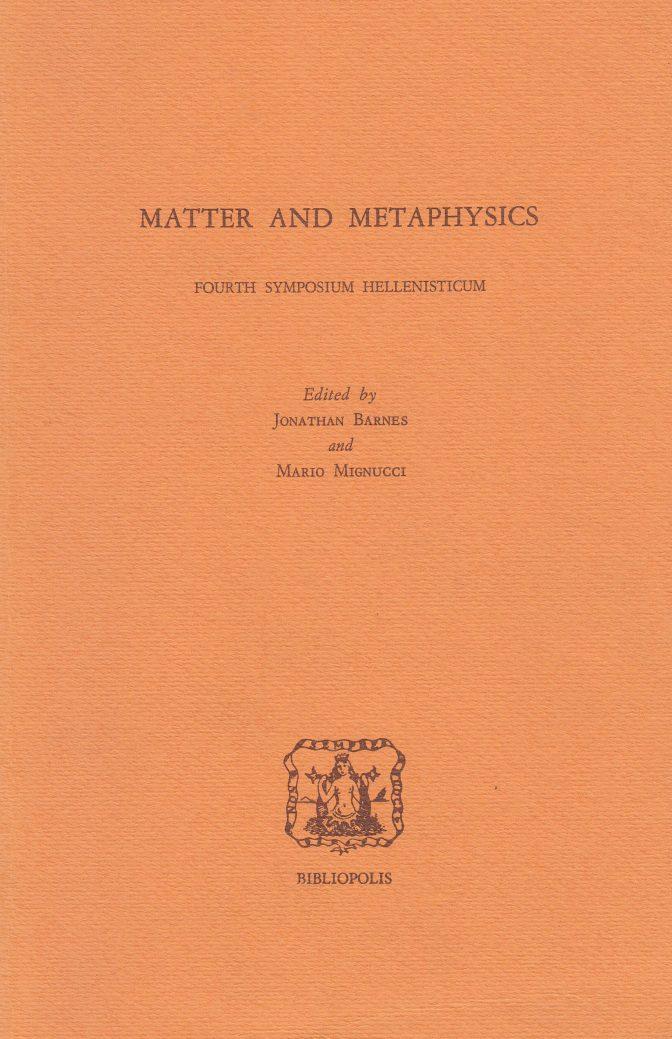 Matter and Metaphysics