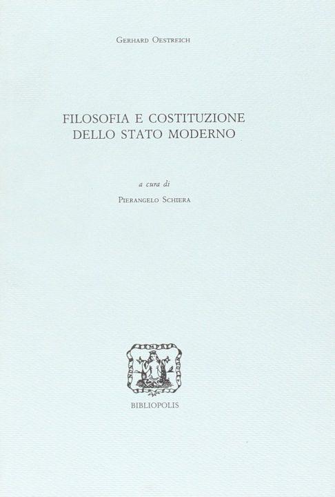 Filosofia e costituzione dello Stato moderno
