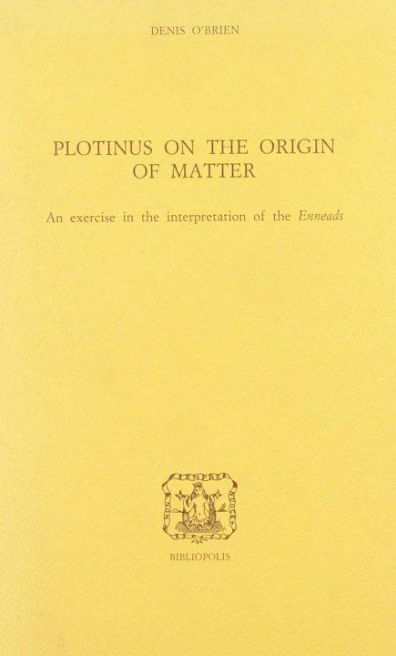 Plotinus on the origin of Matter