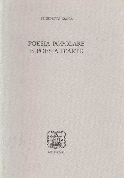 poesia epopolare e poesia d'arte