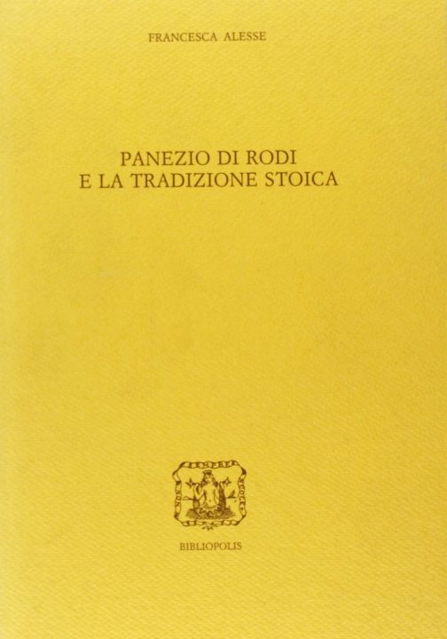 Panezio di Rodi e la tradizione stoica