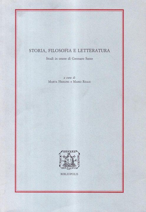 Storia, filosofia e letteratura