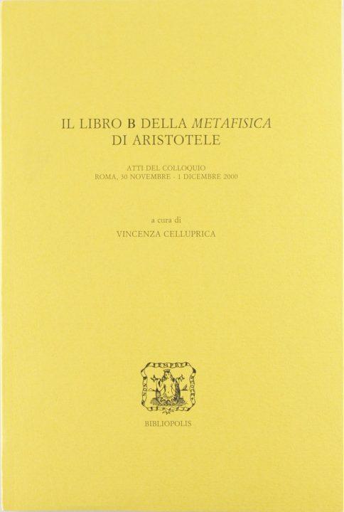 """Il libro B della """"Metafisica"""" di Aristotele"""