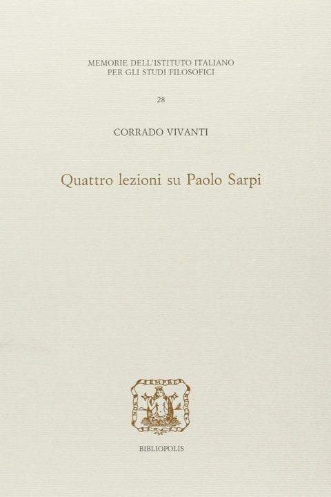 Quattro lezioni su Paolo Sarpi
