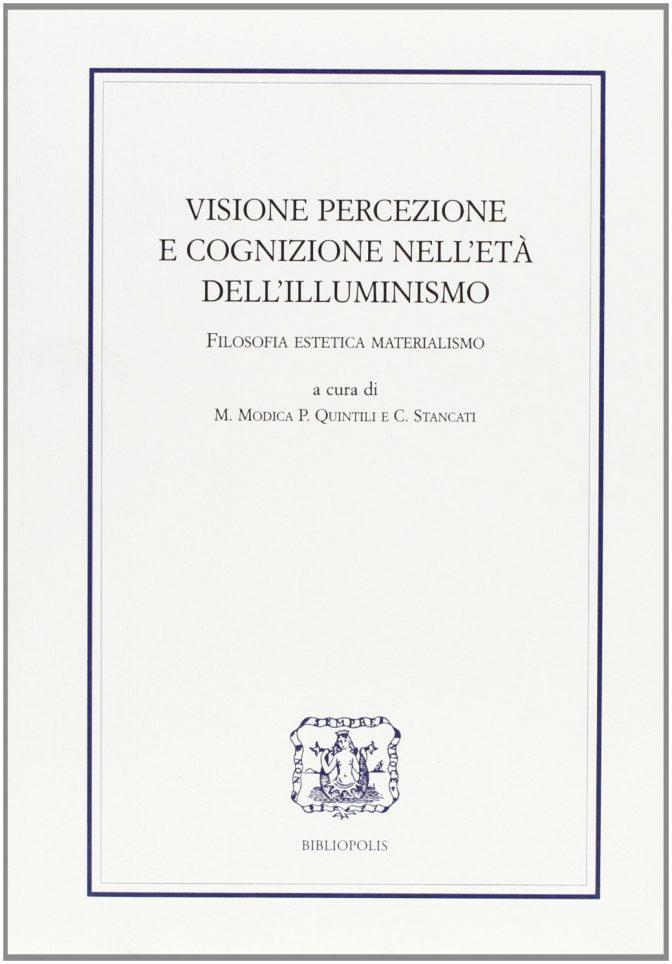 Visione, percezione e cognizione nell'età dell'Illuminismo