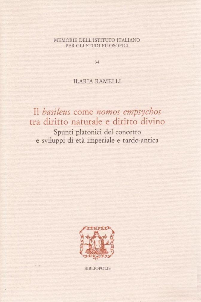 """Il """"basileus"""" come """"nomos empsychos"""" tra diritto naturale e diritto divino"""