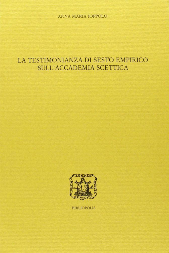 La testimonianza di Sesto Empirico sull'Accademia scettica