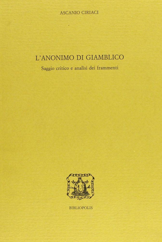 L'Anonimo di Giamblico
