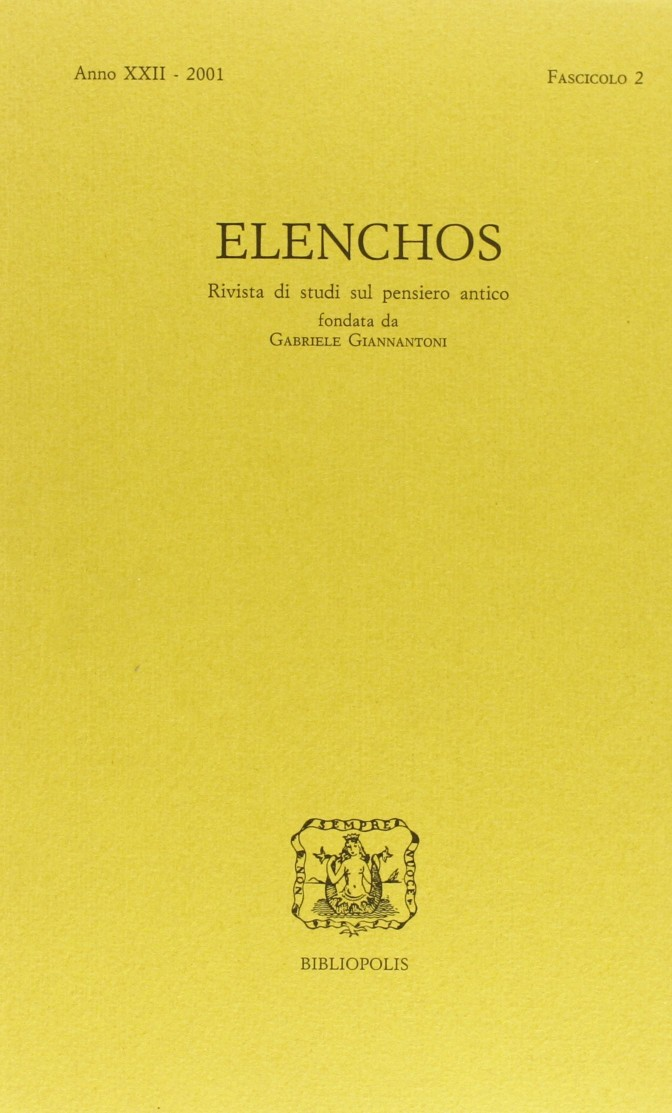 Elenchos XXII – 2001 – Fasc. 2
